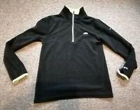 Trespass Half Zip Fleece Top Jumper Airtrap Size 9-10 Years Black Green
