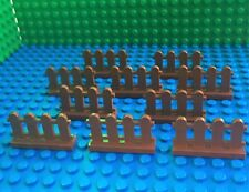 Lego Brown Picket Fence qty 10 (city town garden house farm fences friends) NEW