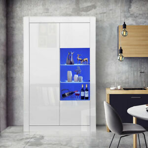 High Gloss Living Room Set Furniture LED TV Unit Display Cabinet Wide Cupboard