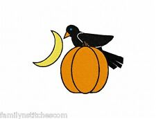 Crows 9 Machine Embroidery Designs 4x4 Pumpkins & Moon on multi-formatted CD