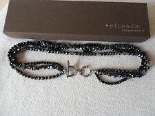 & Hematite Bead Necklace~N1094 Silpada~Sterling Silver, Black Onyx