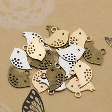 Wholesale 30/60/100pcs Tibet Silver Lovely bird Charm Pendant beaded Jewelry