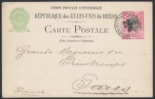 BRAZIL, 1904. Post Card H&G 27a, Para - Paris