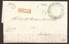 AUSTRIA / LOMBARDY VENETIA / ITALY. 1850. ENTIRE. TIENE TO BASSANO. TIENE CANCEL