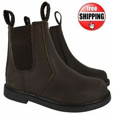 Boots with Upper Leather Slip - on Shoes for Boys
