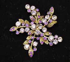 Vintage flower Style Brooches bronze/Purple mix color high-quality Bouquet -ST6
