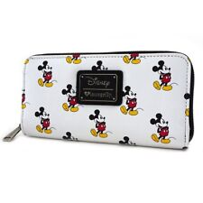 Loungefly Disney Mickey Mouse Classic Cartoon Zip Around Womens Wallet WDWA0677
