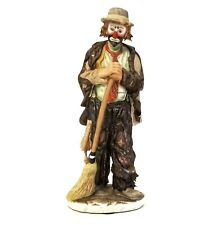 "Emmett Kelly Jr Sweeping Up Flambro Limited Edition 9339/12000 No Box 10"" Tall"