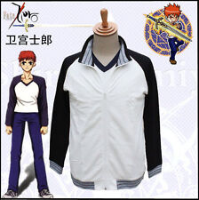 Anime Fate Stay Night Shirou Emiya Cosplay Costume Sports Wear Jacket + T-shirt