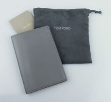 NWT TOM FORD Gray Smooth 100% Leather Bifold Card Holder Wallet $390