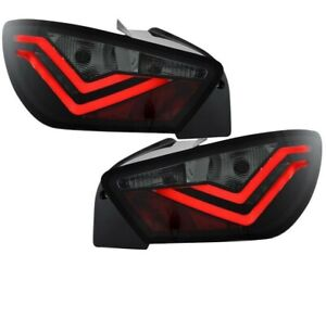 Led Rear taillights Set black red for Seat Ibiza 6J years 08-15 Rear Lights New
