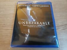 Unbreakable (2000) (Blu-ray Disc) Bruce Willis Samuel L Jackson Mint