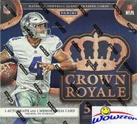 2016 Panini Crown Royale Football Factory Sealed Retail Box-2 AUTOGRAPH/MEM !