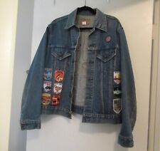 Unique Vintage Levi's Trucker Jacket 44 Made in USA 1970s Denim Blue Customized