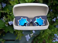 BNIB MARKUS LUPFER STAR ML 10 SUNGLASSES NAVY BLUE LENS LINDA FARROW GALLERY
