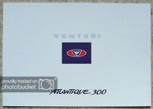 VENTURI ATLANTIQUE 300 Sports Car Sales Brochure c1999