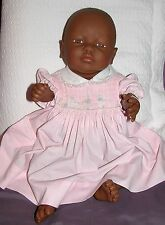 "21"" African American Newborn Baby Girl Doll Anatomically Correct - marked Diana"