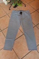 BORIS INDUSTRIES Leggings 44 46 (3 NEU schwarz weiß Streifen Baumwolle LAGENLOOK
