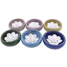 1 ensemble 6 pièces céramique fait à la main Fleur De Lotus support bruleur