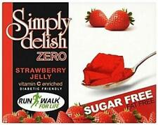 Simply Delish Sugar Free Vegan Instant Strawberry Jelly 8g (Pack of 6)
