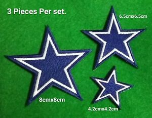 Dallas Cowboys 3 Stars Logo Sport Embroidery iron,sew,Patch,decorate on Fabric