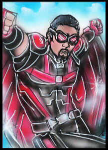 Marvel Avengers FALCON  Sketch Card Painting by Bianca Thompson