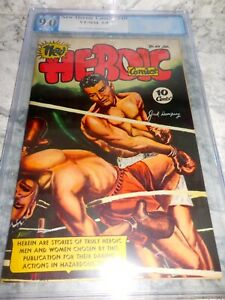 1947 New Heroic Comics #40 Jack Dempsey Cover PGX VF 9.0 VF/NM