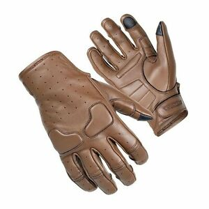 Cortech Slacker Womens Leather Motorcycle Gloves Brown