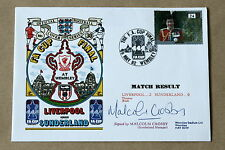 LIVERPOOL V SUNDERLAND FA CUP FINAL 1992 DAWN COVER SIGNED BY MALCOLM CROSBY