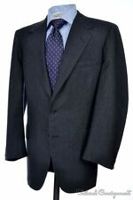 OXXFORD CLOTHES Blue Gray Tic Flannel Super 100 Wool Jacket Pants SUIT - 41 R