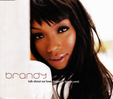 BRANDY FEATURING KANYE WEST - TALK ABOUT OUR LOVE CD SINGLE 1 TRACK PROMO