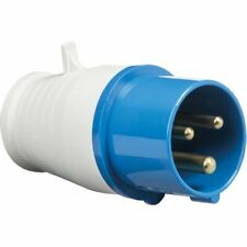 16A 230V IP44 Industrial 3 Pin 2P+E In-Line Caravan Male Plug Ideal For Outdoors