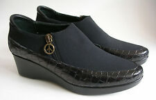 Donald J Pliner ITALY Black Wedge Bootie Shoes Womens 7.5M