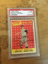 1958 topps mickey mantle all star PSA/DNA vg-ex 4