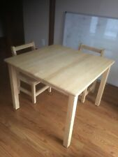 Children's height sturdy wooden table