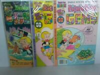 LOT RICHIE RICH GEMS #5, 23 & 24 +BONUS FREE COMIC