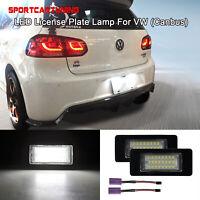 2X Error Free LED License Number Plate Lamp Light CanBus For Audi/VW/Skoda/Seat