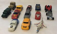Assorted Lot of 13 Die Cast Cars, Airplane, & G I Joe Trucks