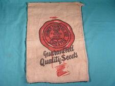 Vintage James Hunter Ltd Chester Seeds Sack Grass & Clover Seeds Specialist