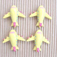"US SELLER - 10pc x 1.25"" Resin Airplane/Aeroplane Flatback Embellishments SB617Y"