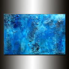 Texture BLUE Abstract Painting, Contemporary Modern art, handmade abstract art