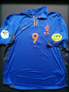 Patrick Kluivert The Netherlands - Denmark EURO 2000 Matchworn Shirt EURO2000