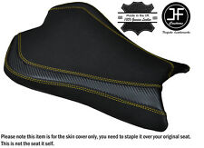CARBON GRIP YELLOW DS ST CUSTOM FITS KAWASAKI ZX6R 636 09-15 FRONT SEAT COVER