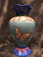 WCL Ceramic Vase- Pastel w/ Butterflies and flowers
