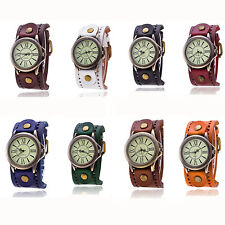 2016 Vintage Cow Leather Bracelet Watch Casual Luxury Quartz Watch Women Watch