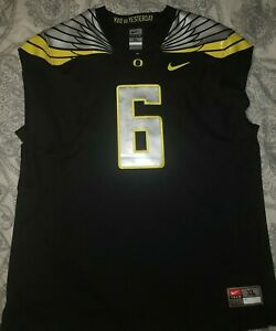 Nike Oregon Duck's Black Football Perfect for Foamposites Jersey Size XL