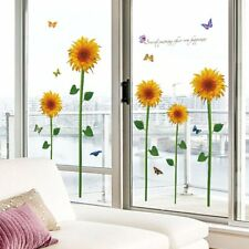 Sunflower Removable Self-Adhesive Wall Stickers Decal Decor Wall Stickers -#%