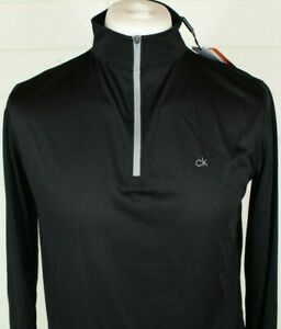 Calvin Klein Golf M Pullover 1/4 Zip Black Long Sleeve Sports Casual Mid Layer