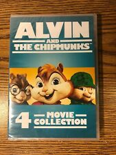 Alvin and the Chipmunks 4-Movie DVD Collection Original Squeakquel Road Chip NEW