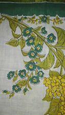 Green Vtg Floral Handkerchief